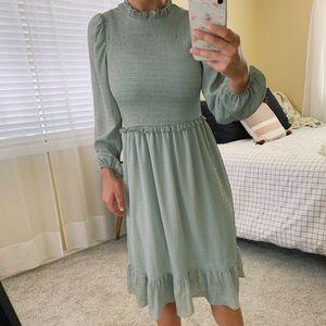 Lulus Midi Scrunched Waist Dress